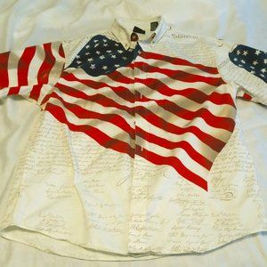 DECLARATION OF INDEPENDENCE MENS BUTTON DOWN SHIRT